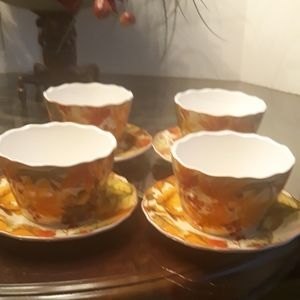 222 Fifth Autumn celebration bowls and saucers.